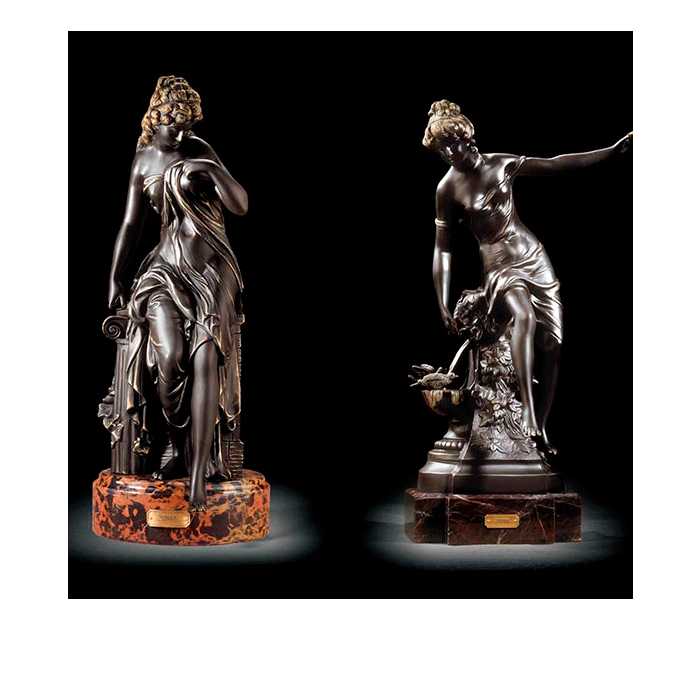 Soher-Figuras-de-bronce-Diosas