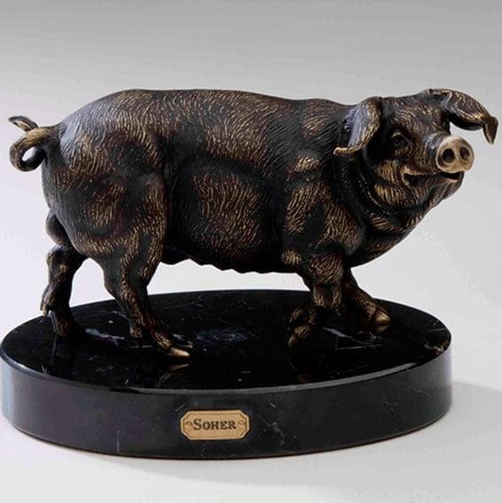 Soher-Figuras-de-bronce-cerdo